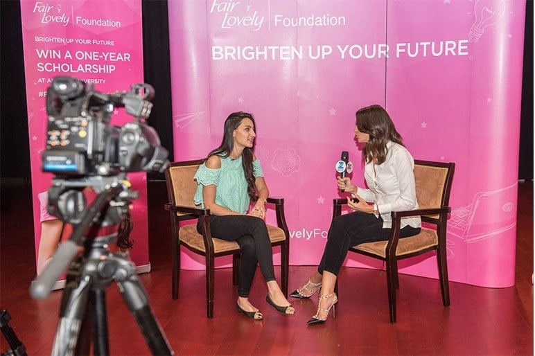 Shereen Mitwalli Best Emcee in Dubai in fair & Lovely Campaign