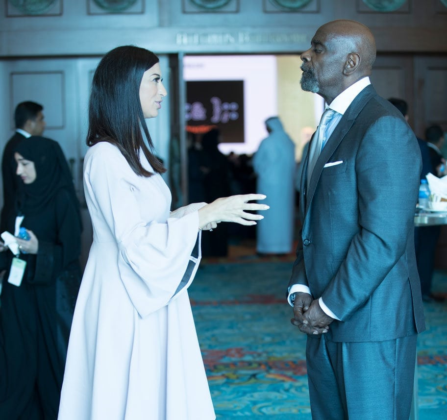 Shereen Mitwalli Best MC in Dubai with Chris Gardner