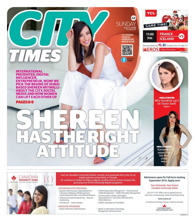 Shereen Mitwalli Best Motivational Speaker in Dubai in City Times Magzine