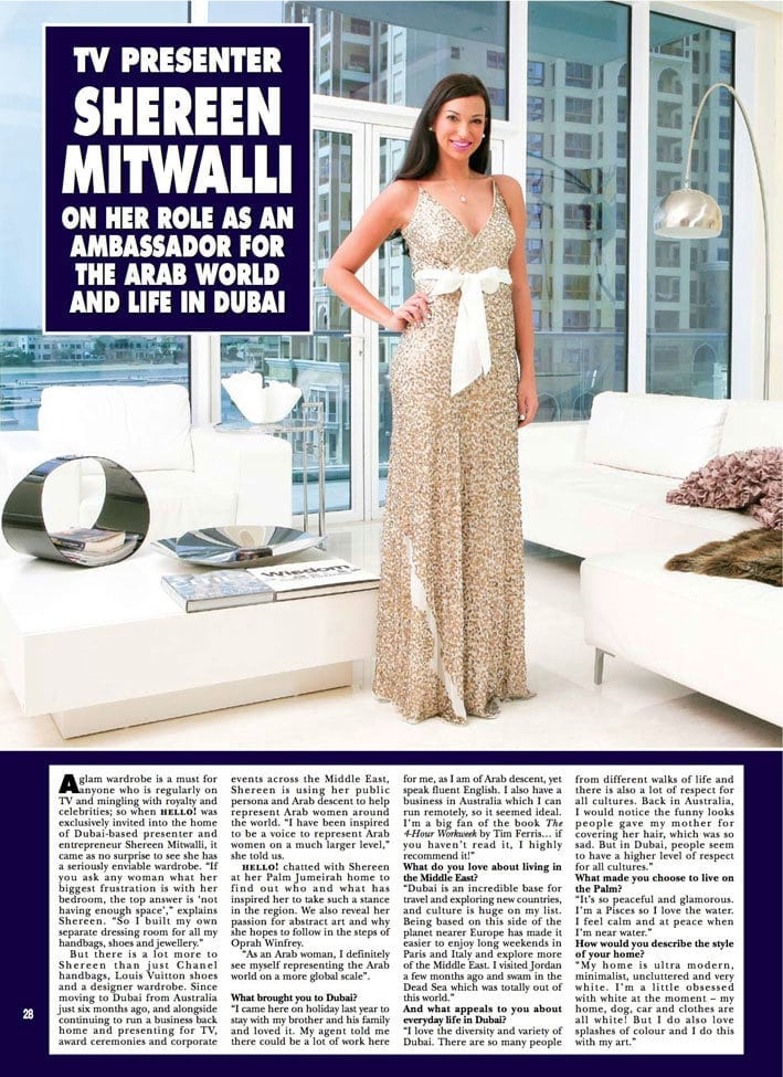 Shereen Mitwalli Best Motivational Speaker in Dubai in Hello Magzine