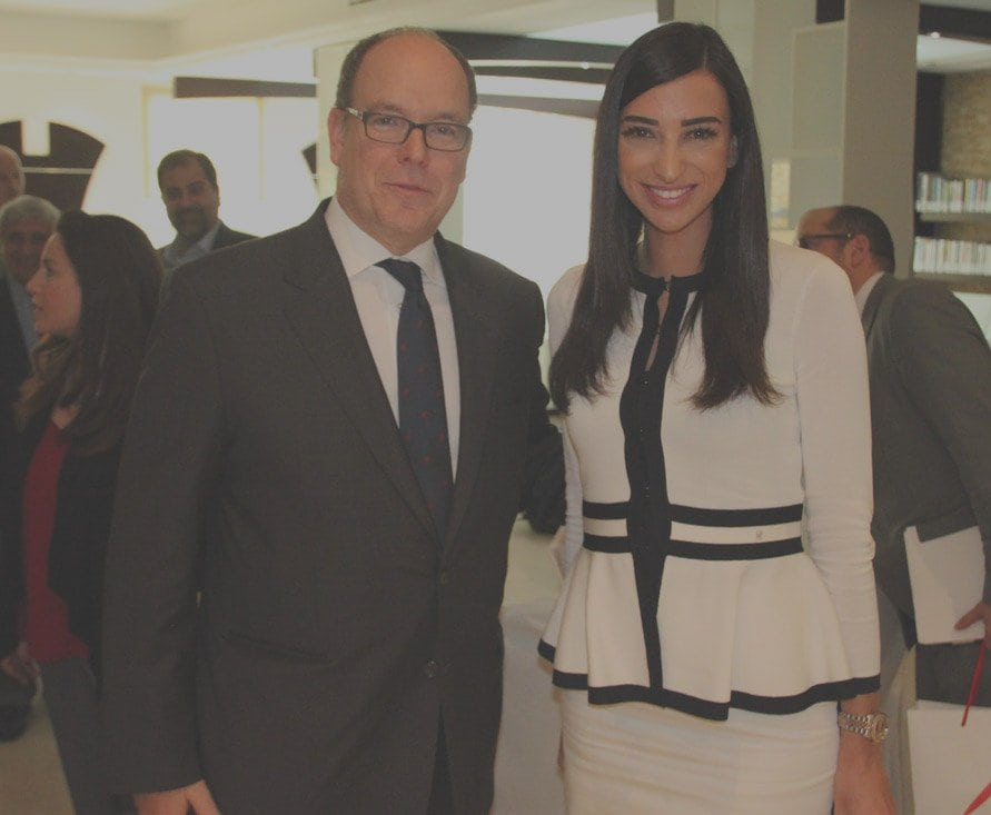 Shereen Mitwalli Best MC in Dubai with Prince Albert
