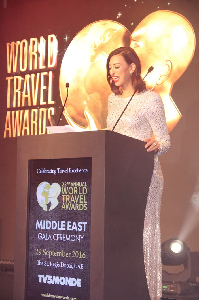 Shereen Mitwalli Best MC in Dubai hosting an event