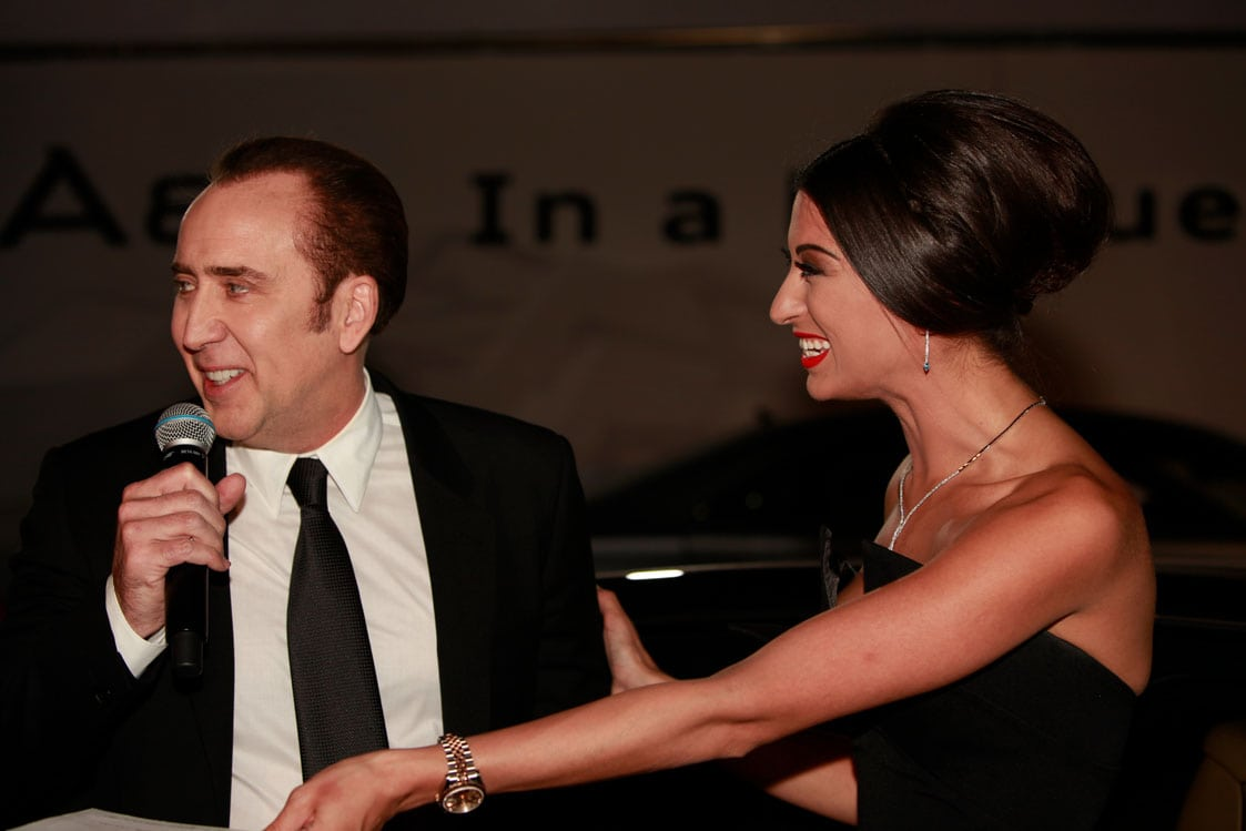 Shereen Mitwalli Best MC in Dubai with Nicolas Cage