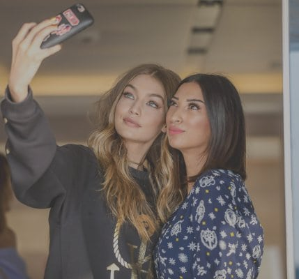 Shereen Mitwalli Best MC in Dubai with Gigi Hadid
