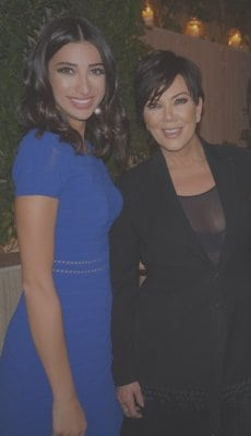 Shereen Mitwalli Best MC in Dubai with Kris Jenner