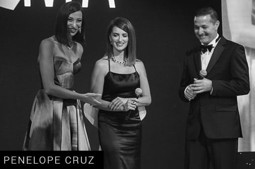 Shereen Mitwalli Best MC in Dubai with Penelope Cruz