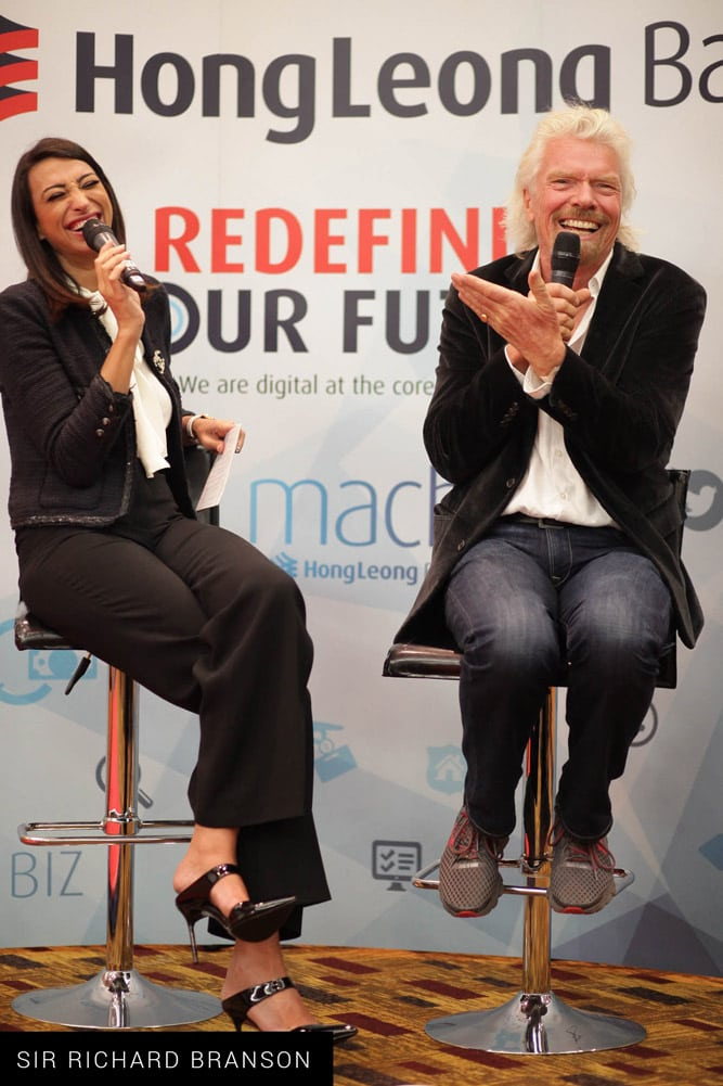 Shereen Mitwalli Best MC in Dubai with Sir Richard Branson