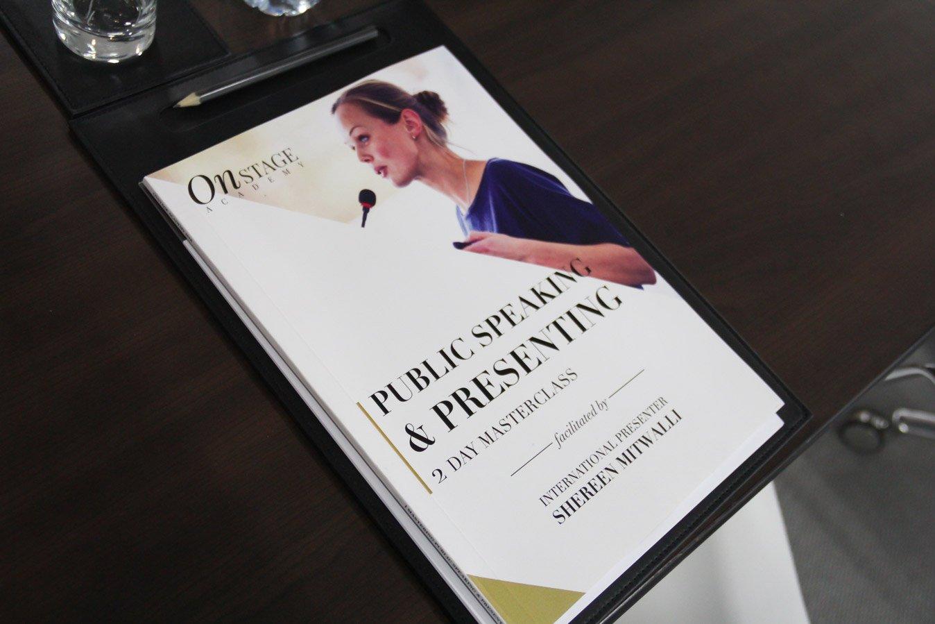Shereen Mitwalli Best Public Speaker presents Public Speaking Masterclass Book
