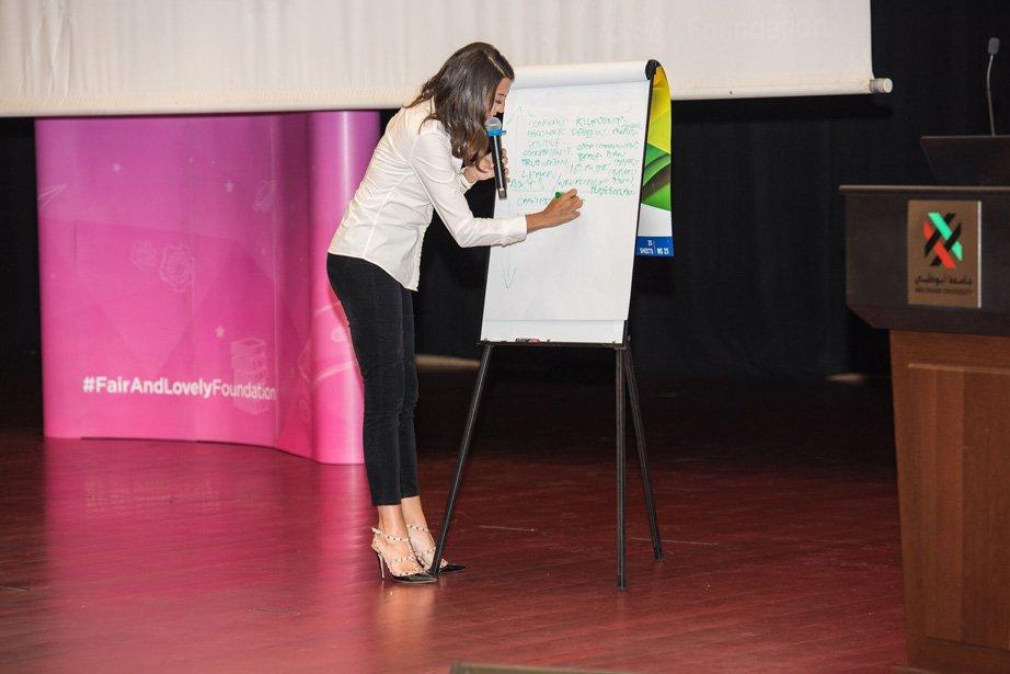 Shereen Mitwalli Best Emcee in Dubai in fair & Lovely Campaign