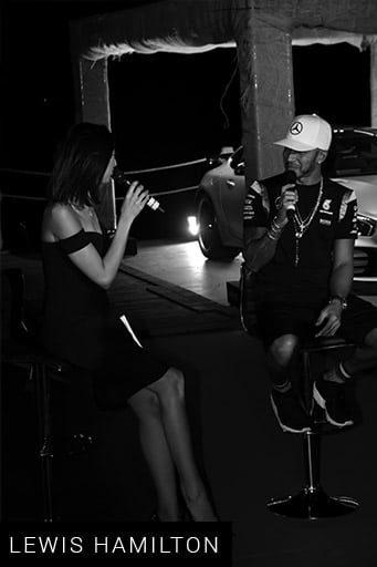 Shereen Mitwalli Best MC in Dubai with Lewis Hamilton