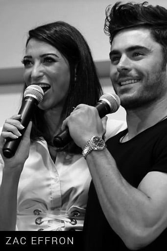 Shereen Mitwalli Best MC in Dubai with Zac Efron
